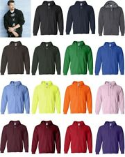 Gildan Mens Heavy Blend Full Zip Hooded Hoodie Sweatshirt 18600 S-5XL
