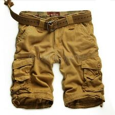 New Men's Summer Casual Relaxed Loose Cotton Combat Cargo Beach Shorts Pants 6XL