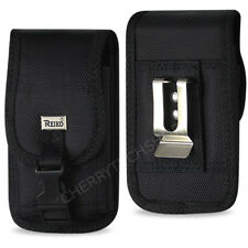 REIKO Heavy Duty Vertical Metal Belt Clip Case with Buckle for Samsung Phones