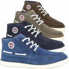 NEBULUS BOAT SHOES STRIPES, full leather, Leather sneakers, Men's (T464)