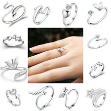 Silver Plated ring finger fashion women lady Ring opening Adjustable 1 Pc