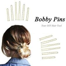 300Pcs Golden Bobby Pins Thin U Shape Hairpins Hairstyle Women Hair Clips A5Z4