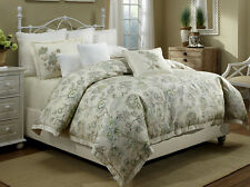 Veratex Jardin 3 piece Duvet Set 100% Linen- ELEGANT & LUXURY Bedding cover Set