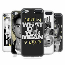 OFFICIAL JUSTIN BIEBER BLACK AND WHITE SOFT GEL CASE FOR APPLE iPOD TOUCH MP3