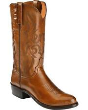Lucchese N9631 R3 Mens Antique Brown Lonestar Calfskin Western Cowboy Boots