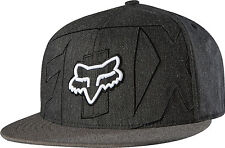 Fox Racing Mens Heather Black/Military Green Stockyard 210 Fitted Hat