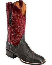Lucchese CL8010.W8 Mens Red & Black Sheep & Goat Leather Western Cowboy Boots