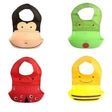 1PCS Burp Cloth Infant Washable Bibs Silicone Baby Feeding Silicone Bibs U1L4