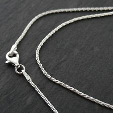 """Sterling Silver 1mm SPIGA Wheat Chain Necklace 030 Italy 16""""- 30"""" NEW 925"""