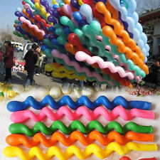Hot!10/50/100pcs  Mixed Spiral Latex Balloons Wedding Kids Birthday Party Decor