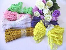 18 metres x 6 mm Ric Rac Lace Braid Trim 25 Colours