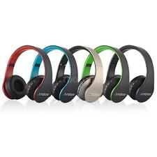 Foldable Wireless Bluetooth Stereo Headphone Headset Mic TF+FM Radio+ MP3 Player