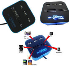 3 Ports USB 2.0 Hub Combo All In One Multi-card Reader for SD/MMC/M2/MS Daily