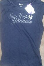 NEW MLB NY New York Yankees Womens T Shirt M Medium Tri Blend NEW NWT