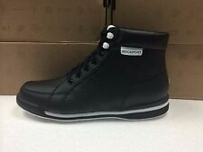 NEW MENS ROCKPORT M7100 BLACK PERFORATED BOOTS-SIZE 8.5