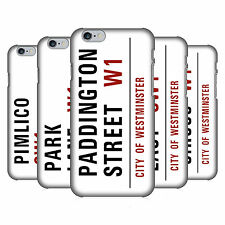 OFFICIAL LONDON STREET SIGNS 3 HARD BACK CASE FOR APPLE iPHONE PHONES