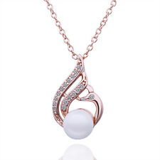 New Arrival 18K Gold Silver Plated GP Swarovski Crystal Pearl Necklace & Pendant