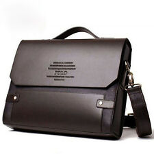 Men's POLO Fanke Shoulder Messenger Bag Pu Leather Handbag Briefcase Business