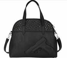 3D Gun Bag Women Handbag Retro Rivet Pistol Shoulder Embossed Rock Punk