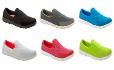 WOMENS LIGHTWEIGHT SLIP ON PUMPS SHOES FLAT TRAINERS OLDER GIRLS LADIES SIZE 2-9
