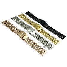 5 Link Stainless Steel Metal WatchBand Strap Locking Safety Fold Deployant Clasp