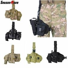 Tactical Military Hunting Molle Pistol Gun Drop Leg Thigh Holster Pouch Bag