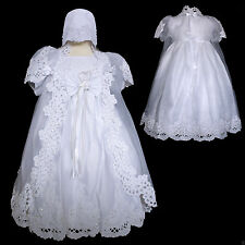 New Baby Toddler Girl Christening Baptism White Dress size 6 months to 30 months