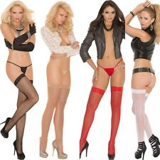 Fishnet Thigh Hi's Lingerie w/ Lace Top Regular or Plus Size Queen EM1775