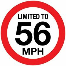 Vehicle Speed Limited to Sticker Sign vinyl for Van HGV Trailer PSV Bus Coach