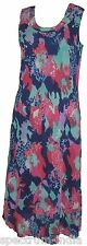 Lined Adini Georgette Ocean Print Sleeveless Dress Beautiful with a Comfy Fit