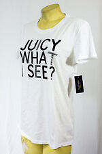 Juicy Couture t shirt logo tee Juicy white what i s more Juicy please round neck