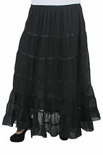 New Plus Size Black Maxi Ribbon Skirt | Size 18 20 22 24 26 28