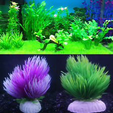 Fish Tank Aquarium Decor Water Grass Aqua-plant Plant Floral Weighted-base