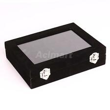 24 Comparment Jewelry Display Case Necklace Rings Storage Holder Box Organizer