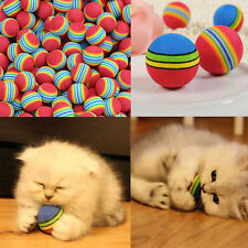 3/6/9pcs Colorful Pet Cat Dog Kitten Soft Foam Rainbow Play Ball Activities Toy