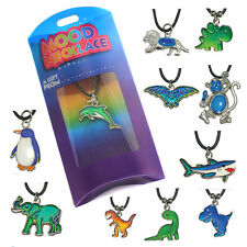 Girls & Ladies Colour-changing Animal Mood Necklace with Pendant and Leather