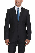 HUGO BOSS The Grand/Central Black Striped Two Button Wool Suit