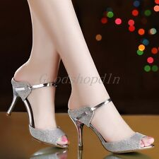 Womens Stiletto High Heels Strappy Slingbacks Sexy Open Toe Sandals Shoes JF435
