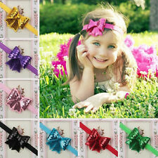 Baby Girls Kid Sequin Bowknot for Headband Hair Band Bow Accessory FT
