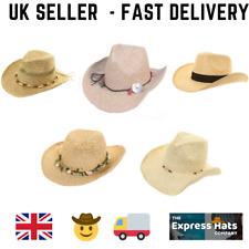 Womens/Ladies Straw Cowboy Hats (5 Great Designs) - Fast Post 1st Class