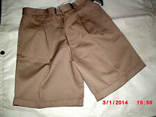 Girls Khaki Omega Solid Cotton Blend All Seasons School Uniform Shorts