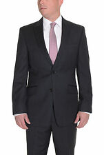 Tommy Hilfiger Trim Fit Charcoal Pinstriped Wool Suit With Peak Lapels