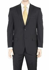 Michael Kors Modern Fit Black Double Pinstriped Two Button Wool Blend Suit