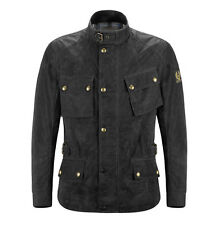 Belstaff Crosby Black Motorcycle Motorbike Soy Waxed Cotton Jacket | All Sizes