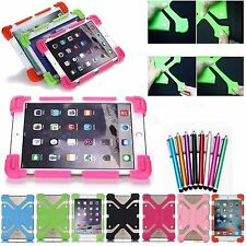 Shockproof Soft Silicone Back Case Rubber Stand Cover For Apple iPad Tablets PC