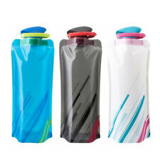 750ml Flexible Collapsible Foldable Reusable Water Bottle Bag Outdoor Cycling