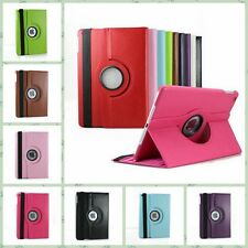 360 Rotating PU Leather Smart Cover Hard Back Case Sleep/Wake For Apple iPad New