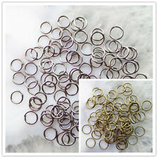 1000Pcs Black/Bronze Plated Metal Jump Rings 4mm,5mm,6mm,8mm,10mm XLZ-115