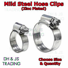 Mild Steel Hose Clips Jubilee Clip Clips Pipe Clamps - JCS Brand Zinc Plated