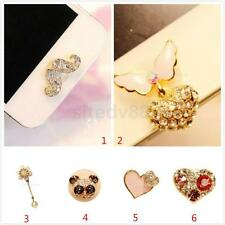 Fashion Home Button Sticker 3D Crystal Diamond Dust Plug For iPhone 5/6/ iPad